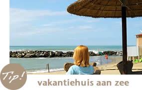 Vakantiehuis aan zee en strand