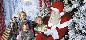 De kerstman bij Center Parcs